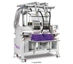 Priemyselný vyšívací stroj TEXI 1502 TS PREMIUM LC SET s čiapkovým rámčekom a stojanom