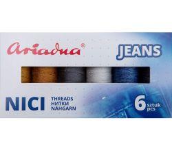 Zostava jeansových špeciálnych nití