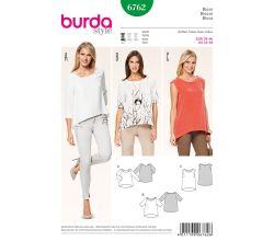 Střih Burda 6762 - Volná halenka, tílko, tričko