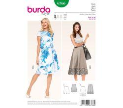 Střih Burda 6766 - Kolová sukně