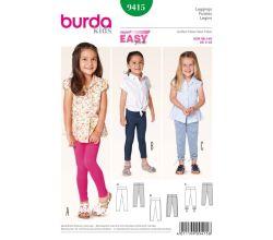 Střih Burda 9415 - Dětské legíny