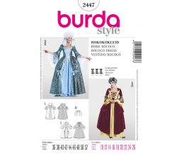 Strih Burda 2447 - Rokokové šaty