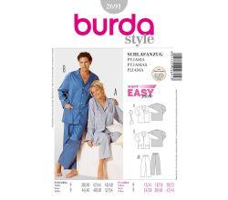 Střih Burda 2691 - Dámské pyžamo, pánské pyžamo