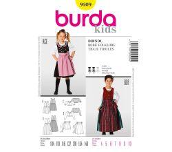 Střih Burda 9509 - Dětské krojové šaty