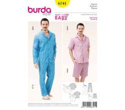 Střih Burda 6741 - Pánské pyžamo