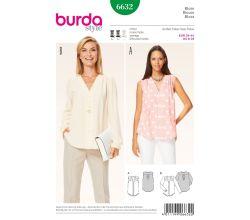 Střih Burda 6632 - Halenka, propínací halenka, košile