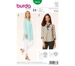 Střih Burda 6633 - Tunika, volná tunika