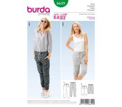 Střih Burda 6659 - Teplákové kalhoty, tepláky