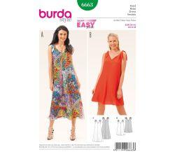 Strih Burda 6663 - Jednoduché letné šaty