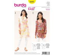 Strih Burda 6683 - Tunika