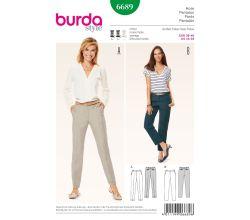 Střih Burda 6689 - Cigaretové kalhoty, kalhoty s puky
