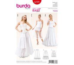 Strih Burda 6739 - Spodnička