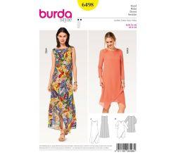 Střih Burda 6498 - Letní šaty, dlouhé letní šaty