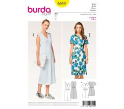 Strih Burda 6511 - Áčkové šaty, midi šaty