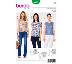 Strih Burda 6525 - Tielko, tričko