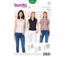 Strih Burda 6527 - Blúzka, košeľa