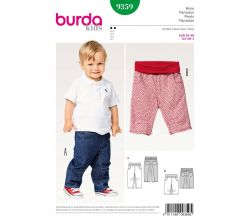 Střih Burda 9359 - Dětské džínové kalhoty, tříčtvrteční kalhoty
