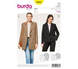 Strih Burda 6463 - Sako, kabátik, oversized