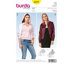 Střih Burda 6478 - Bomber, bunda s kapucí