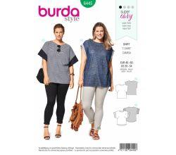 Střih Burda 6445 - Jednoduché tričko pro plnoštíhlé