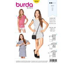 Strih Burda 9344 - Detské tričko, tričkové šaty