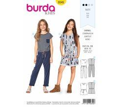 Strih Burda 9345 - Detský overal