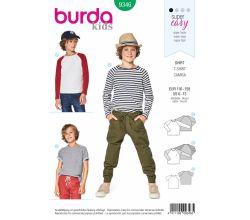 Strih Burda 9346 - Detské tričko, tričko s dlhým rukávom