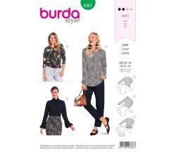 Strih Burda 6367 - Tričko s dlhým rukávom, rolák