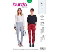 Střih Burda 6377 - Kalhoty s lampasem