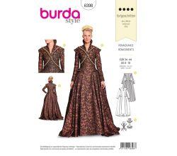 Strih Burda 6398 - Renesančný šaty