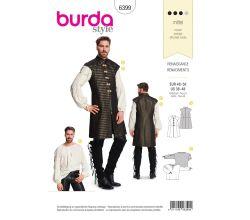 Strih Burda 6399 - Pánsky renesančný kostým