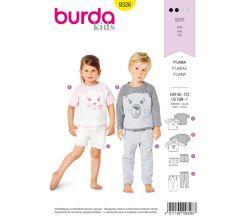 Strih Burda 9326 - Detské pyžamo