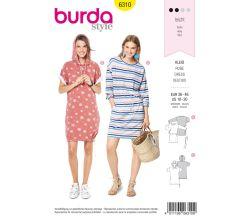 Střih Burda 6310 - Mikinové šaty, letní šaty, pohodlné šaty