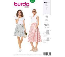 Střih Burda 6319 - Kolová sukně, kruhová sukně, letní sukně