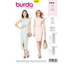 Strih Burda 6320 - Puzdrové šaty