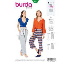 Střih Burda 6333 - Teplákové kalhoty, tepláky, žerzejové kalhoty