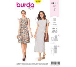 Střih Burda 6339 - Letní šaty, dlouhé letní šaty, áčkové šaty