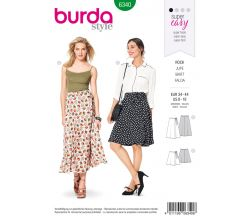 Strih Burda 6340 - Zavinovacie sukne, dlhá sukňa
