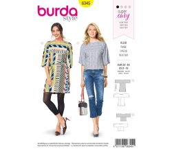 Strih Burda 6345 - Šaty, tunika