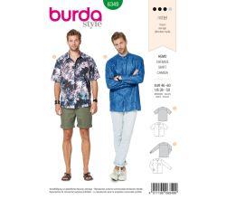 Strih Burda 6349 - Pánska košeľa