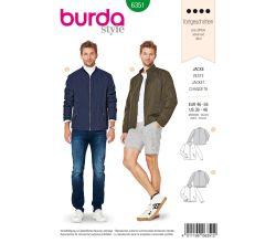 Strih Burda 6351 - Pánska bunda