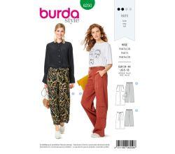 Strih Burda 6250 - Voľné nohavice, kapsáče