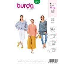Střih Burda 6266 - Jednoduchá halenka