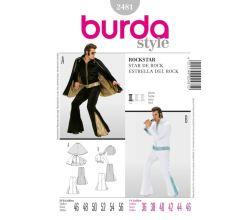 Střih Burda 2481 - Elvis, rocknroll, rockstar