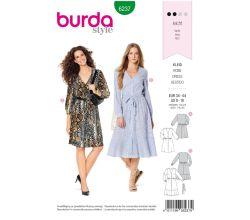 Strih Burda 6237 - Košeľové šaty, letné šaty
