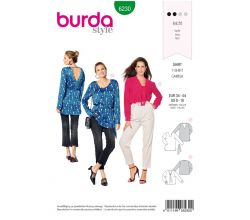 Strih Burda 6230 - Blúzka