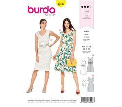 Střih Burda 6228 - Letní šaty, pouzdrové šaty
