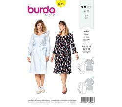 Střih Burda 6215 - Košilové šaty, letní šaty pro plnoštíhlé