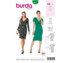 Strih Burda 6211 - žerzejové šaty