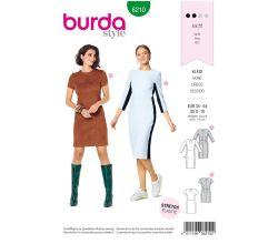 Strih Burda 6210 - Puzdrové šaty